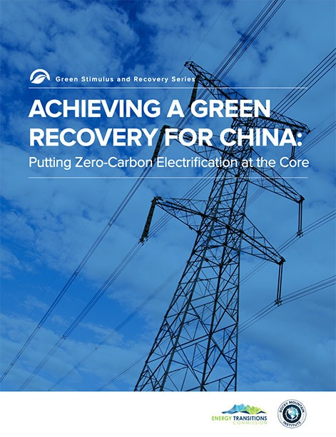 achieving a green recovery for china